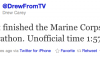 Drew Carey Marine Corps Historic Half Marathon Time