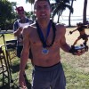 2012 Maui Oceanfront Marathon Winner Chuck Engle and his Winning Hardware