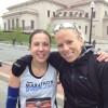 Melissa Gillette and Leah Thorvilson – Carmel Marathon – 2012