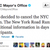 NYCM Bloomberg Cancel Marathon Tweet