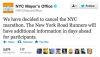 NYCM Bloomberg Cancel Marathon Tweet