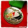 Holly Jolly Half Marathon Medal 2012