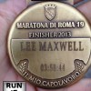 Rome Marathon Medal – Run It Fast – 2013