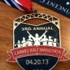 Carmel Half Marathon Medal 2013