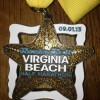 Rock n Roll Virginia Beach Half Marathon Medal 2013