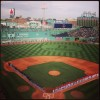 Boston Strong Outfield Grass at Fenway Park Before Red Sox Playoff Game – Run It Fast