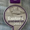 Exeter's Great West Run Half Marathon Medal (2013) – Run It Fast