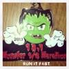 Monster Mash Half Marathon Medal 2013