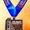 US Half Marathon Medal 2013