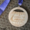 Asheville Half Marathon Medal 2014
