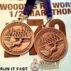 Red Deer Half Marathon Medal 2014