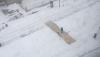 Boston Marathon Snow Covered Finish Line