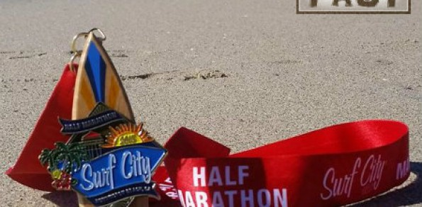 Surf City Half Marathon Medal – 2015 – Run It Fast