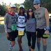 Deo Jaravata, Yolanda Holder, Andrea Kooiman, Joshua Holmes before the Catalina Eco Marathon