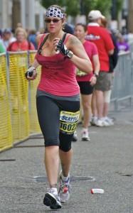 Dana Casanave Running the Seattle Marathon