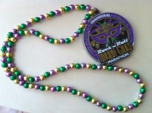 New Orleans Mardi Gras Marathon Medal Beads