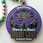 Rock n' Roll Mardi Gras 2010 Marathon Medal