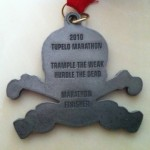 Back of 2010 Tupelo Marathon Full Marathon Medal (Bling)