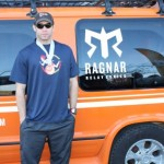Chris Estes Floating With His New Bling (Ragnar Relay TN 2010)
