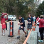 Tommy Dabbs Taking Handoff from Scott Flowers (Ragnar Relay TN 2010)