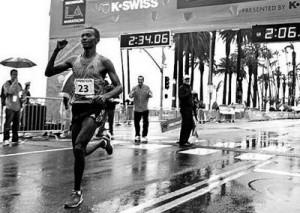 Markos Geneti Wins L.A. Marathon in Debut