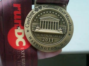 National Half Marathon Finisher's Medal Washington D.C.