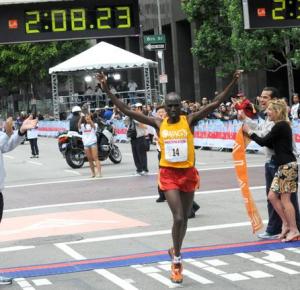 Wesley Korir Los Angeles 2010 Marathon
