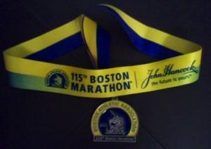 115th Boston Marathon Finisher's Medal