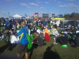 2011 Boston Marathon Runners Prerace in  Hopkinton