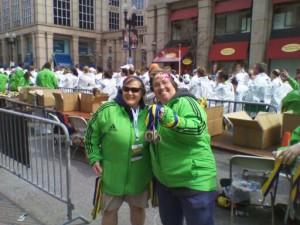 Volunteers at the 2011 Boston Marathon