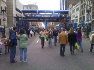 Boston Marathon (2011) Finish Area