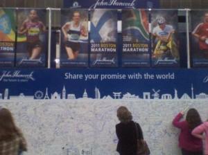 Boston Marathon (2011) Autograph Wall