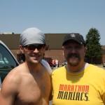 Joshua Holmes and Scott Stader after the Andrew Jackson Marathon