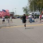 Marj Mitchell finishing the Andrew Jackson Marathon