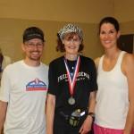 Andrew Jackson Marathon - Jonathan and Leah Harrison with Marj Mitchell