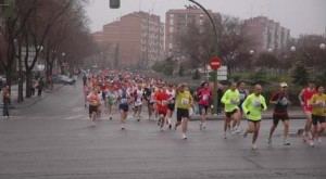 Start of Madrid's Third Latina Half Marathon