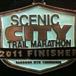 Scenic City Trail Marathon Finisher's Medal 2011