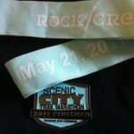 Scenic City Trail Marathon Medal with Ribbon 2011
