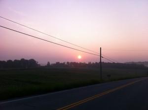 Day 6 Vol State Sunrise