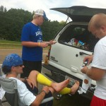 The Josh Holmes Crew Vol State 2011 (Changing Out Bandages)