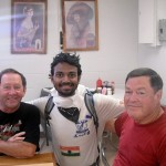 2011 Vol State - Naresh Kumar with Good Samaritans that Bought His Lunch