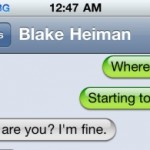 Vol State 2011: Text with Blake Heiman Carjacking