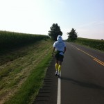 Vol State 500K: Joshua Holmes Running towards Union City
