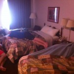 Vol State 500K: My Crew and Naresh Sleeping in Huntingdon