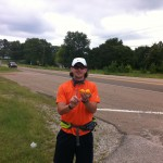 Vol State 500K: Joshua Holmes at Mile 100 Near Lexington (92)