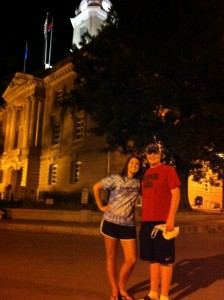 Vol State 500K: Blake and Leah - Columbia, TN  Courthouse