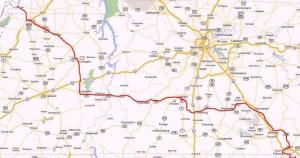 John Price's Vol State 500K Map
