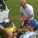 Vol State 500K: Cal Doctoring My Blister in Carroll County