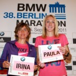 Irina Mikitenko and Paula Radcliffe