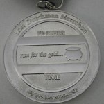 2011 Lost Dutchman Marathon Medal Back - Run for the Gold
